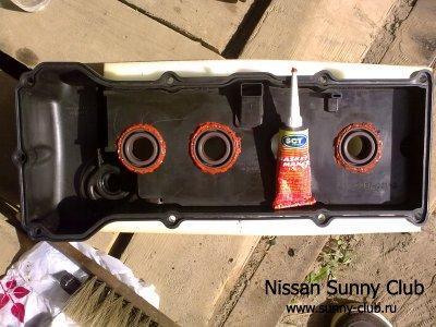 Замена сальников свечных колодцев QG 15/13 + все пластиковые крышки NISSAN