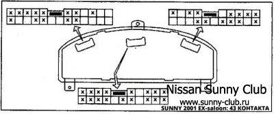 Нужна распиновка/схема спидометра EX-салон 2001 год