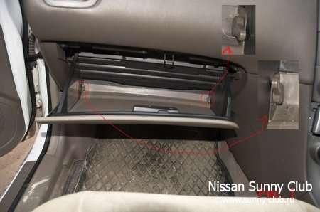 Замена салонного фильтра Nissan Sunny B15
